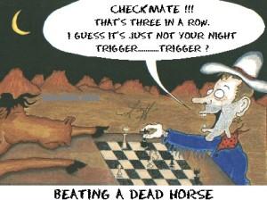 Marcel trok aan een dood paard en won