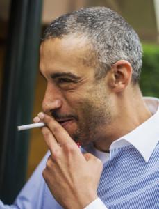Frans kon wel lachen na afloop. Hier zien we hem op het Pinkstertoernooi te Bussum, 2013.