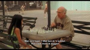 Uit de film Whatever works (2009) van Woody Allen, met een heerlijke mopperpot als hoofdpersonage