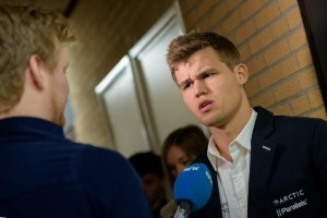 Magnus Carlsen was uitermate slecht te spreken over de teams van Oud Zuylen