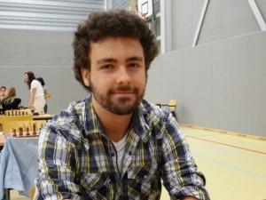 Roeland Pruijssers tijdens het Amsterdam Science Park Chess Tournament