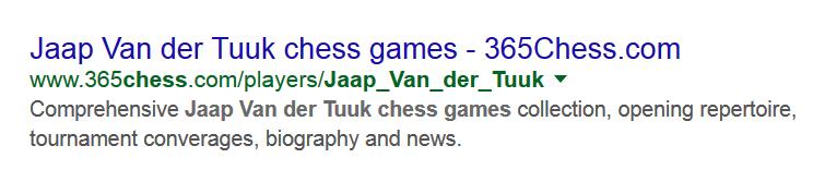 Spellen kunnen ze niet bij chess325. Het moet natuurlijk 'coverages' zijn.