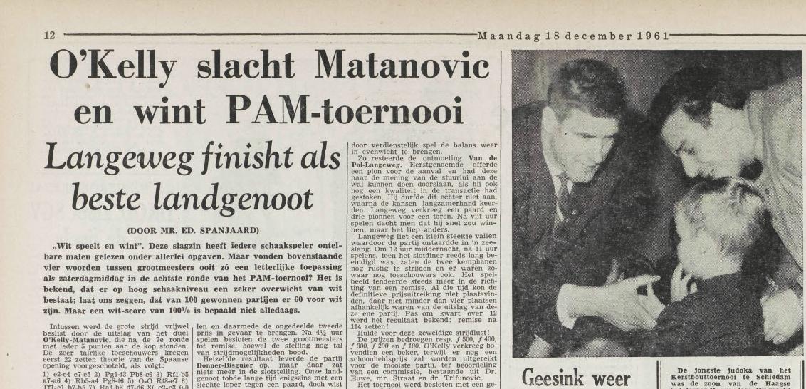 Utrechts Nieuwsblad 18 december 1961
