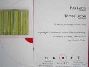 Bas won en nodigt u uit voor een vernissage op 21-2 in Leerdam!