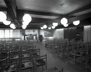 Interieur van de Blijde Boodschapkerk in 1986
