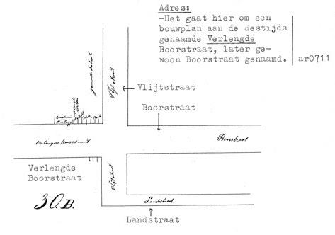 De situatie rond 1988. Het spoor ligt nu op de plaats van de Landstraat.