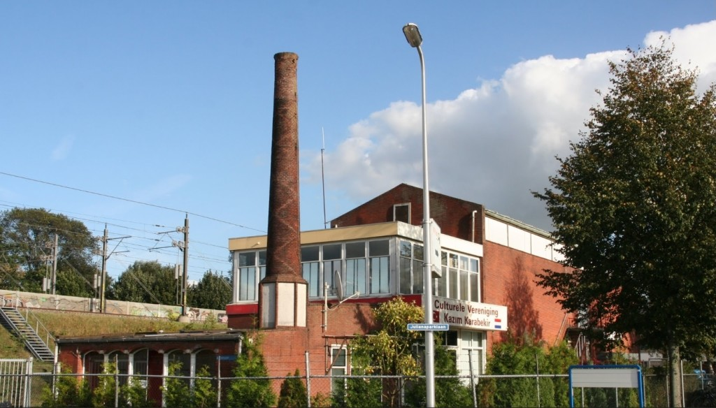 Het Ontspanningsgebouw na de sluiting vn Werkspoor, jaartal onbekend.