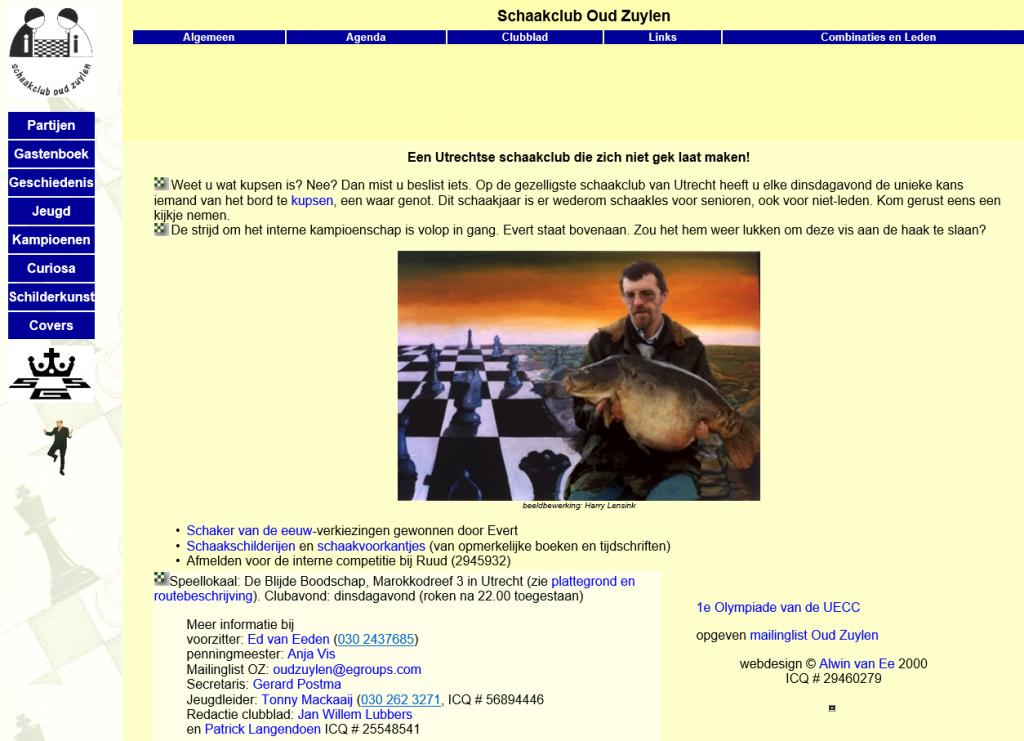 Een van de eerste versies van de OZ-site