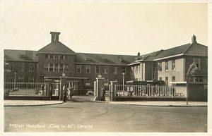 Het voormalig Militair Hospitaal in Oog in Al, thans A.Z.C. of C.O.A.