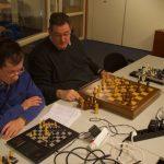 Ries (l) in actie tijdens het toernooi